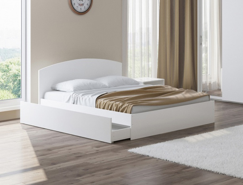 Белая кровать купить Этюд Плюс