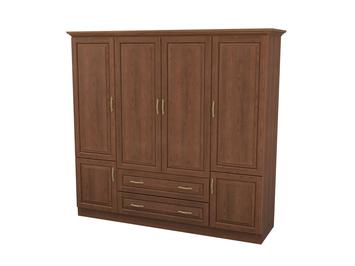 Шкаф распашной 4-х створчатый с ящиками Эдем